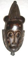 Masque africain baoule de Cote d'Ivoire