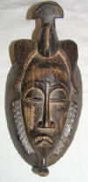 Masque africain baoule de Côte d'Ivoire